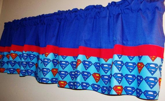 Hero Window Treatment, Curtains, Valance, Superman Valance 42 X 16
