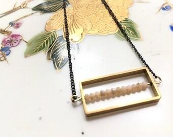 Square necklace (blush)