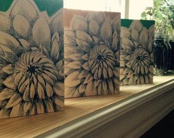 Chrysanthemum Wood Panels