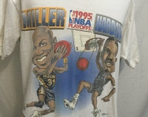 1995 T Shirt Reggie Miller  vs Penny Hardaway  1995 NBA Playoffs  Pacers vs Magic T Shirt 1995 Eastern Conference Championships