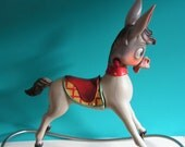 RESERVED for SILVIA - Vintage grey Donkey Rocking Horse, Design by Canova Italy, 1960s