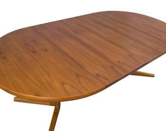 Skovby Teak Dining Table 7ft Danish Modern Mid Century