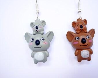 Koalas earrings
