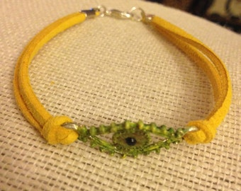 Yellow&Green Evil Eye Bracelet