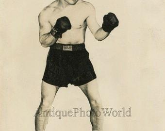 Rocky Graziano champion boxer antique sport boxing photo
