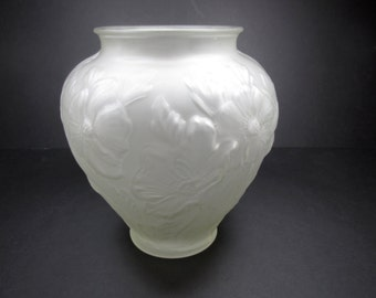 Vintage Tiffin  Poppy Vase Satin Glass
