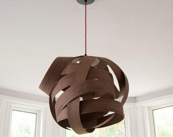 Random large lampshade (Walnut wood)