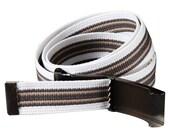 Retro Canvas Belt - Khaki and White