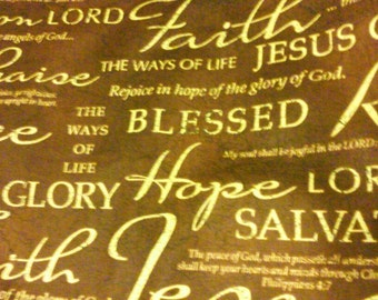 Words of Christ (Brown) placemats-set of 6