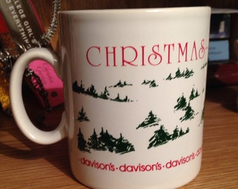 Davisons Department Store Christmas 1983 Commemorative Mug