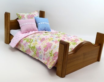 "Doll Bed / American Girl Doll Furniture / 18"" Doll Furniture / AG Bed"