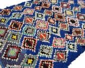 "81""X53"" Vintage Moroccan rug woven using different scraps of used textiles / boucherouite / boucherouette"