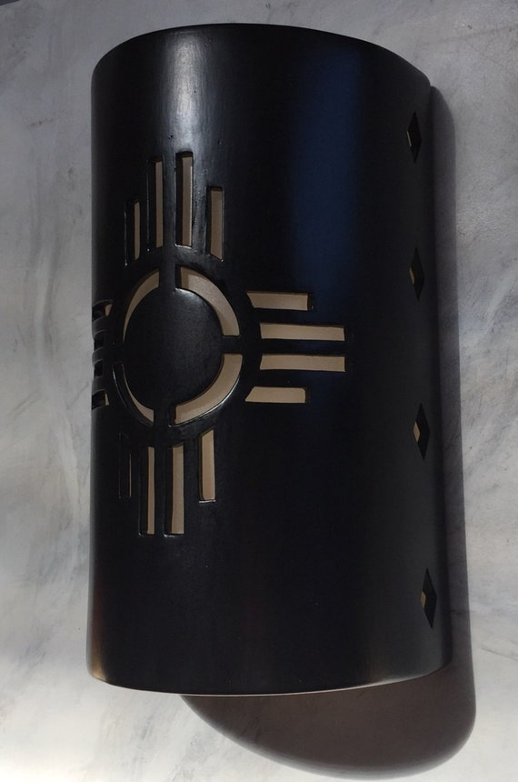New Mexico symbol Zia Outdoor Wall Sconce by CustomCutLighting