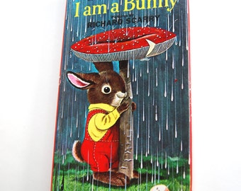 Vintage Children's Book, I Am A Bunny