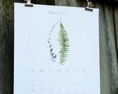 2017 Calendar,  2017 Wall Calendar - Botanical 2017 Calendar - Large Poster Calendar