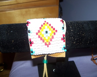 beaded native design bracelet