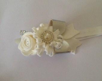 White & sliver flower Crown
