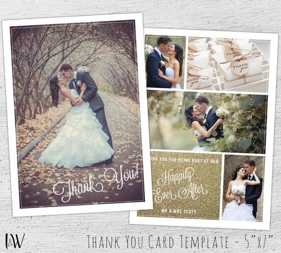 Wedding Thank You Card Template Photoshop Template Wedding – Thank You Cards Wedding Photo