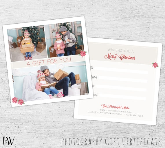 Gift card template photography gift certificate photoshop gift card template photography gift certificate photoshop template christmas gift card holiday gift card christmas marketing 09 006 gc yelopaper Image collections
