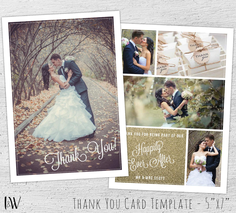 Wedding Thank You Card Template Photoshop Template Wedding – Thank You Cards Wedding Template