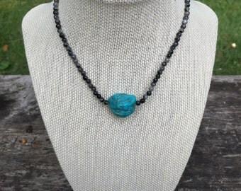 Turquoise Larvikite Choker