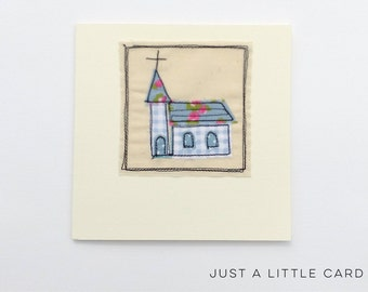 Machine Stitched Greeting Card Blank Inside, Christening Card, Baptism Card, Wedding Card, Church Wedding.