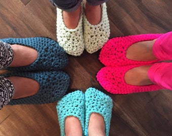 Women's crocheted slippers - handmade slippers