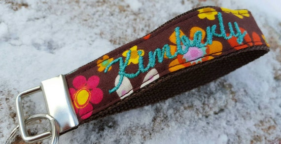 Personalized Floral Keychain, You Design