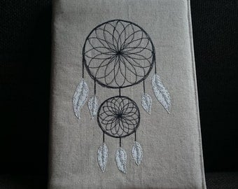 Dreamcatcher Journal A5 with reusable linen embroidered cover