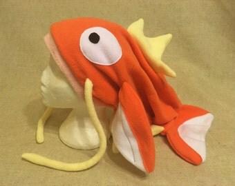 Fleece Pokemon Inspired Magikarp Hat - One Size - Made to Order