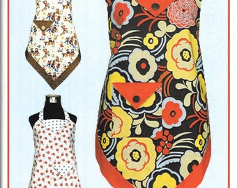 Four Corners Apron, Sewing Pattern by Vanilla House Designs, New Uncut Sewing Pattern for Misses Apron
