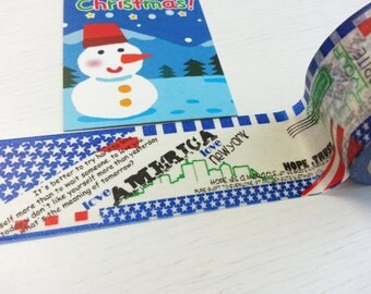 Christmas Sales -  America New York Washi / Masking Tape -30mm x 10M