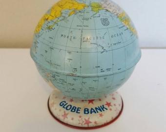"Vintage 5"" Globe Bank"