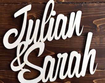 Custom Birch Wood Name Sign