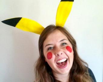 Pikachu ears headband. Pokemon character costume. Buy a craft, feed a baby!