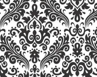 Riley Blake - Black on White Damask Fabric --- Damask Fabric --- Fabric By The Yard