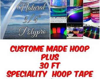 Natural PolyPro Hula Hoop PLUS 30 ft of Hoop Tape - Only 18.95