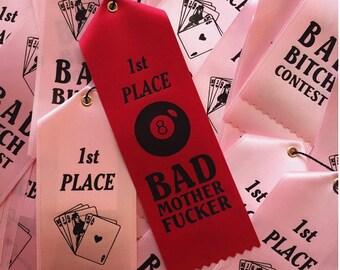 BAD MOTHERF***ER 1st Place Prize Ribbon Pink Award