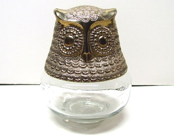 Vintage Avon Owl Bottle / Decanter Figurine, It Is Empty - Collectible AVON - Home Decor
