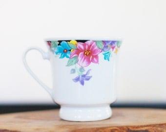 Vintage Teacups TEACUPS Floral TROPICAL TEACUP Tropical Decor