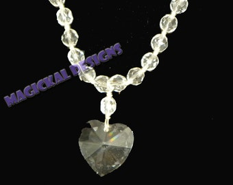Transparent Heart   ...Necklace, Earrings, & Bracelet Set