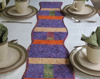 Modern Table Runner, Contemporary Table Runner, Table Runner, Table Topper, Wall Hanging, Quilted Table Runner, Art Quilt