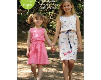 "Pattern - Missy Dresses  + 18"" Doll dress Paper Sewing Pattern by Olive Ann Designs (OAD100)"