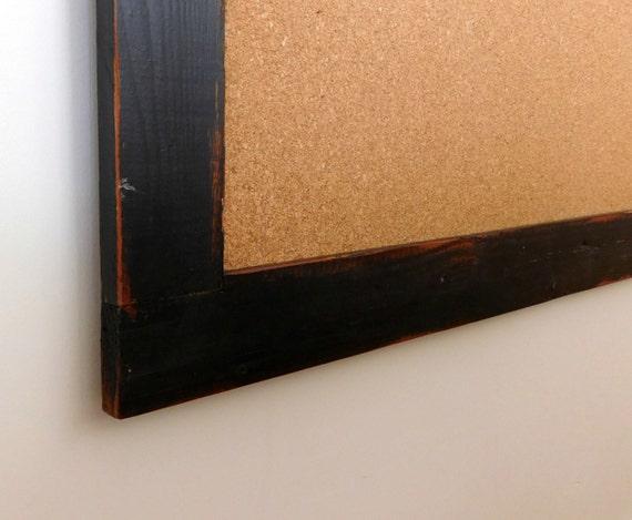 Extra Large Wood Framed Corkboard Cork Board By