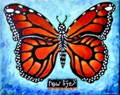 New Life 8 X10 Original Painting | Nursery | Maternity | Baby Shower  | Butterfly | Monarch | Pregnancy
