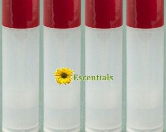 Natural Lip Balm Tube w/ Burgundy Cap - 10 Pack