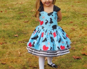Custom design your own Alice in wonderland dress