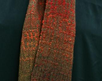 Handwoven merino and silk Scarf