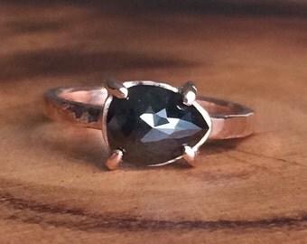 Pear Rosecut Diamond Ring - Ready to Ship