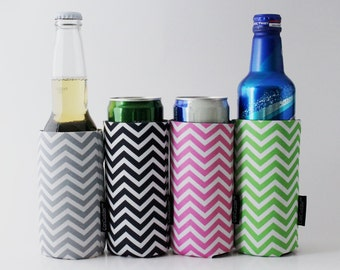 Free Shipping Bundle- Slim Can Coolers - Non-Personalized Set of 4 CAN CUDDLER ®& free KOOZIE ® with purchase